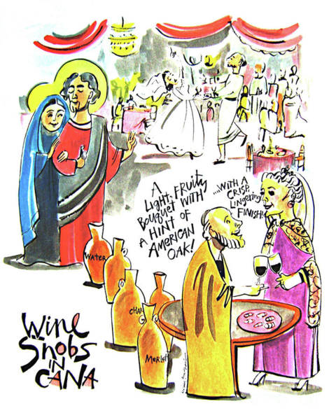 Painting - Wine Snobs In Cana - Mmwsc by Br Mickey McGrath OSFS