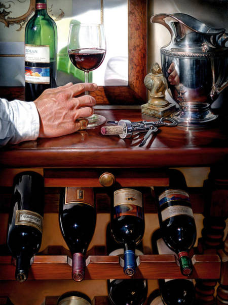 Wall Art - Painting - Wine Tasting by Keith Goodson