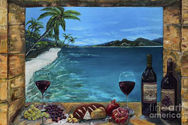 Painting - Wine Thirty - Oceanside by Jan Dappen