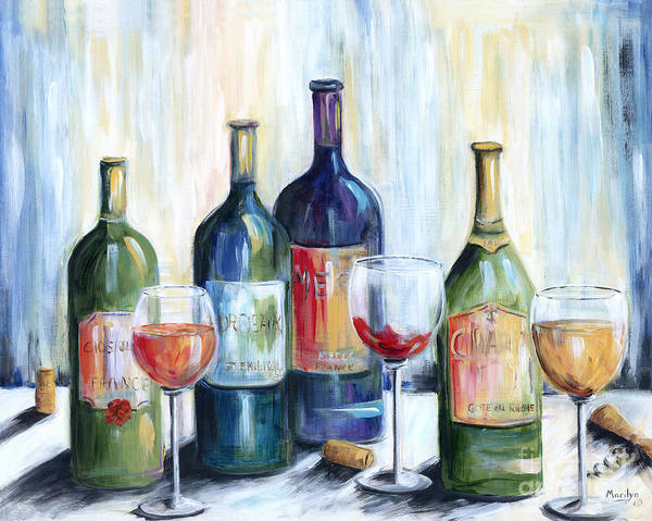Wall Art - Painting - Wine Time by Marilyn Dunlap