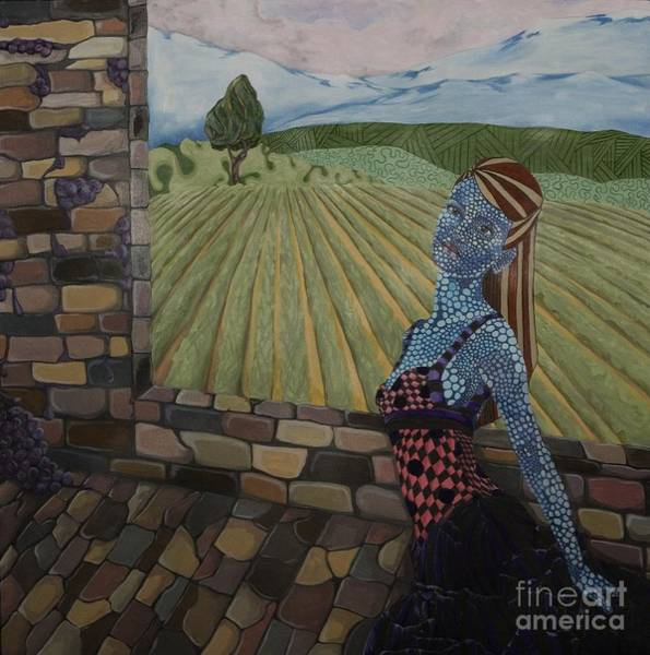 Wall Art - Painting - Wine Vineyard by Victoria Dietz