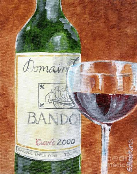 Wall Art - Painting - Wine With Dinner by Sheryl Heatherly Hawkins