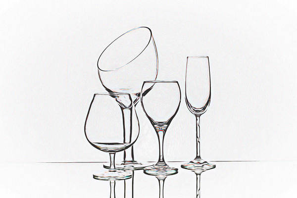Wall Art - Photograph - Wineglass Graphic by Tom Mc Nemar