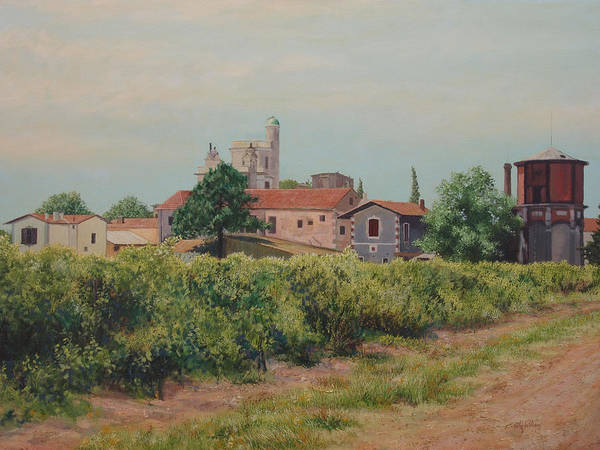 Winery In Provence Art Print