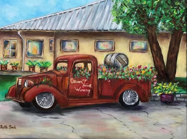 Okanagan Valley Painting - Winery by Ruth Saul
