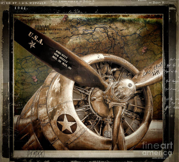 Air War Painting - Wing And A Prayer by Mindy Sommers