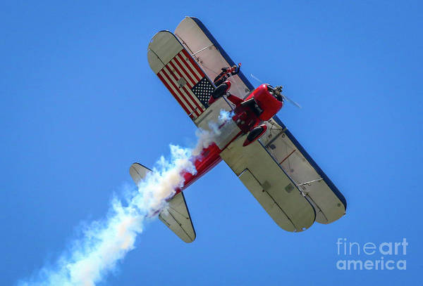 Photograph - Wing Walker Wave #1 by Tom Claud