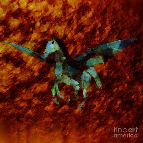 Wall Art - Painting - Winged Horse By Sarah Kirk by Sarah Kirk