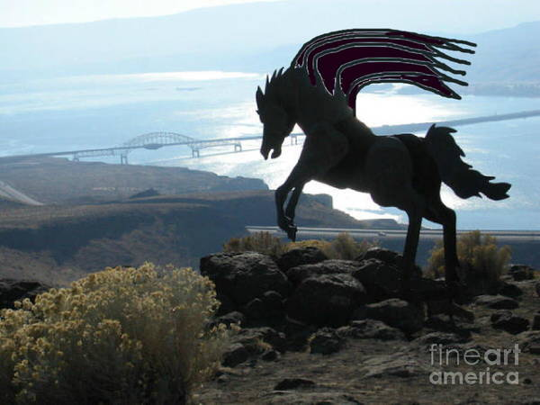 Photograph - Winged Horse Of The Apocalypse by Stanley Morganstein