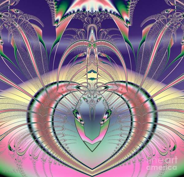 Digital Art - Winged Soul Flying Heavenward Fractal by Rose Santuci-Sofranko