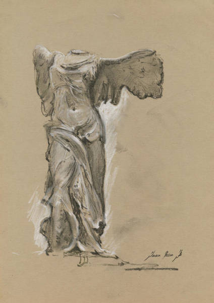 Wings Painting - Winged Vicory Of Samothrace by Juan Bosco