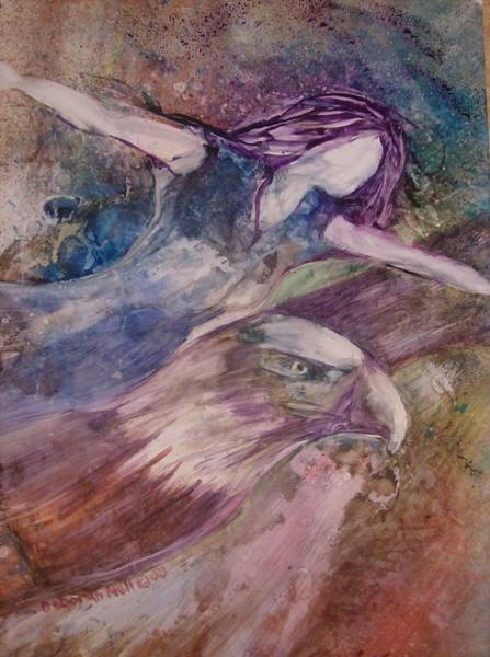 Faceless Painting - Wings Like Eagles by Deborah Nell