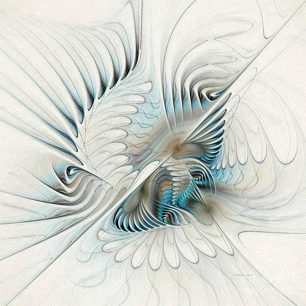 Generative Painting - Wings Of An Angel by Deborah Benoit