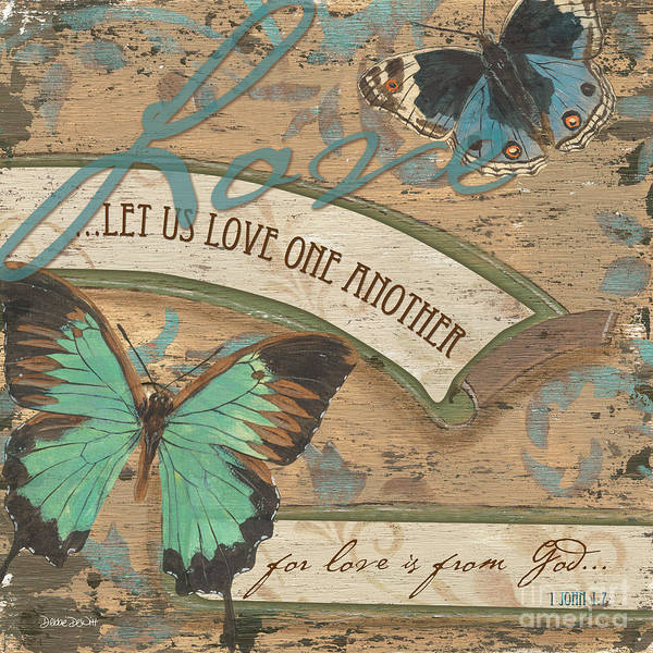 Bible Wall Art - Painting - Wings Of Love by Debbie DeWitt