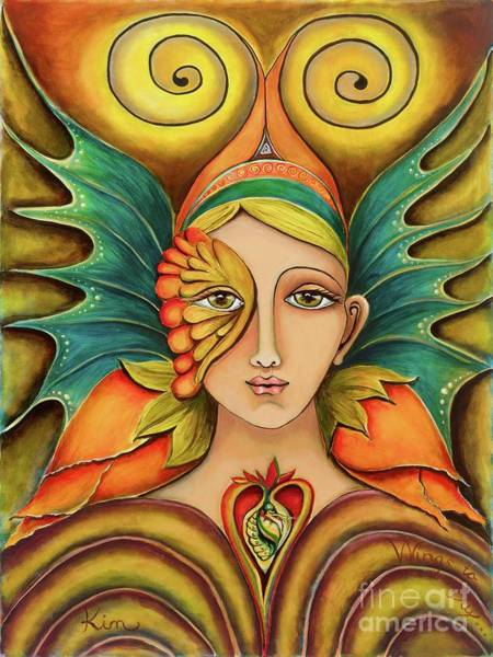 Divine Love Wall Art - Painting - Wings To Fly by Kim Morris