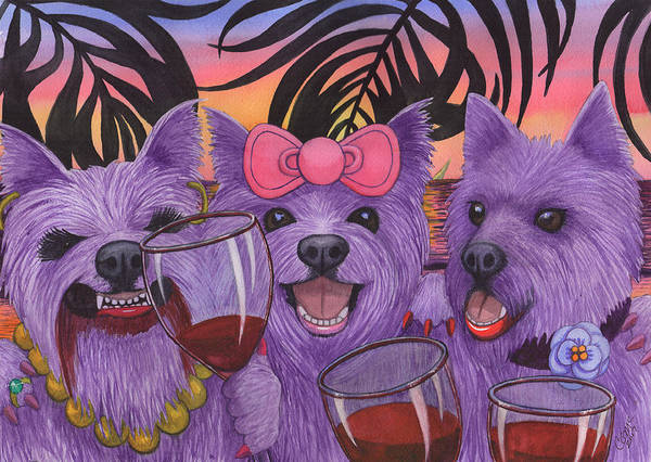Painting - Wining Westies by Catherine G McElroy