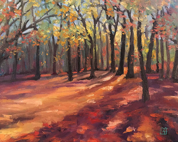 Wall Art - Painting - Winnekinni Trail by Leslie Alfred McGrath