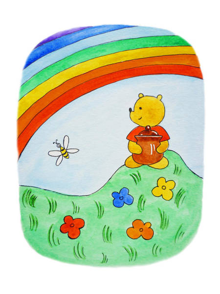 For Children Painting - Winnie The Pooh  by Irina Sztukowski