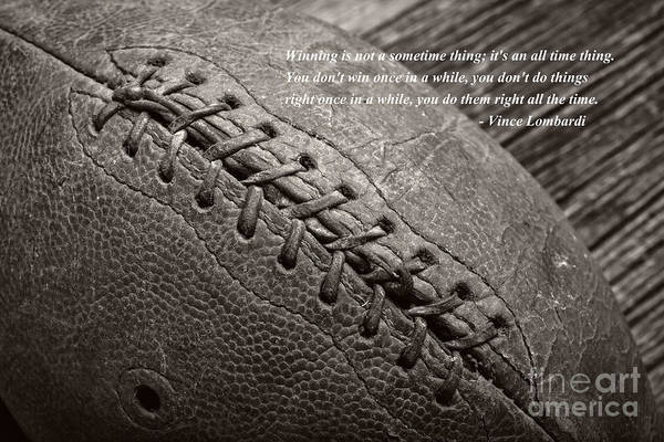 Photograph - Winning Quote From Vince Lombardi by Edward Fielding