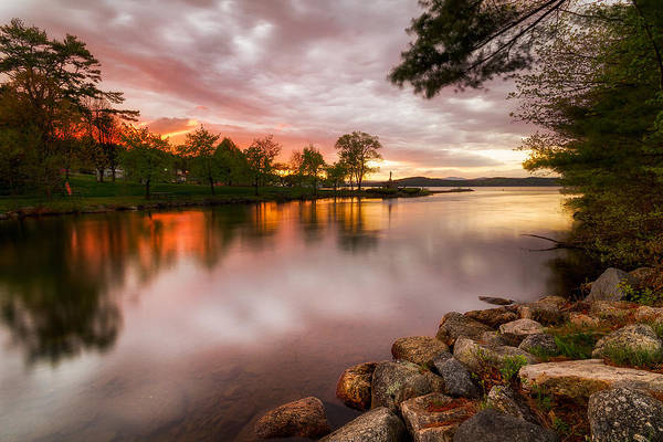 Photograph - Winnipesaukee Sunset by Robert Clifford