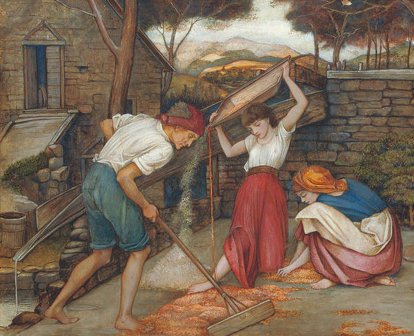 Worker Painting - Winnowing by John Roddam Spencer Stanhope