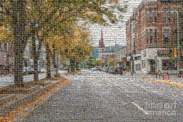 Photograph - Winona Downtown Scene Photo Mosaic by Kari Yearous