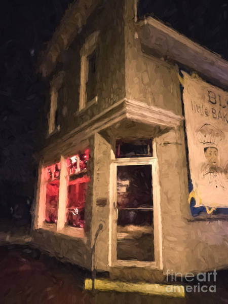 Photograph - Winona Mn Historic Bakery At Night by Kari Yearous