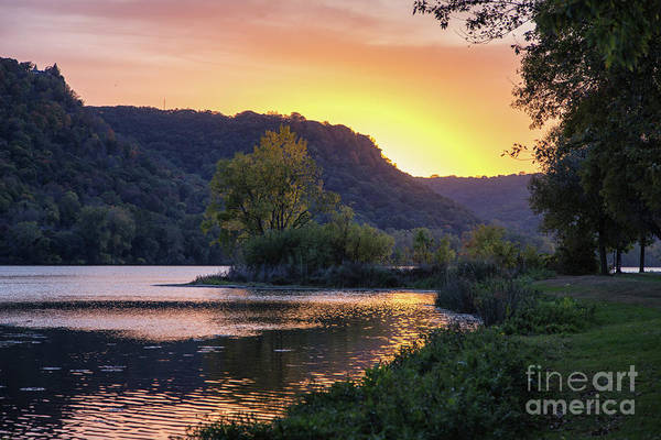 Photograph - Winona Mn Sunset Peninsula Yearous by Kari Yearous