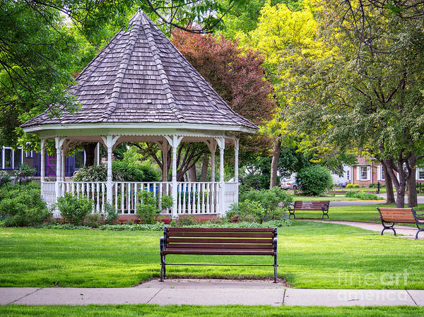 Photograph - Winona Photo Windom Park Gazebo Spring by Kari Yearous