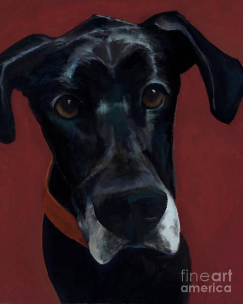 Black Great Dane Painting - Winston by Alyson Kinkade