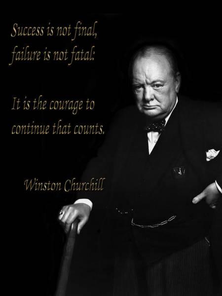 Winston Churchill 1 Art Print