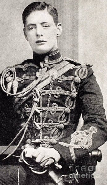 Wall Art - Photograph - Winston Churchill As A Second Lieutenant In The 4th Queen's Own Hussars by English School