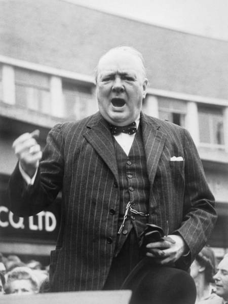 Sir Photograph - Winston Churchill Campaigning - 1945 by War Is Hell Store
