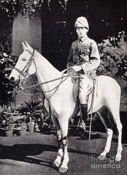 White Horse Photograph - Winston Churchill On Horseback In Bangalore, India In 1897 by English School