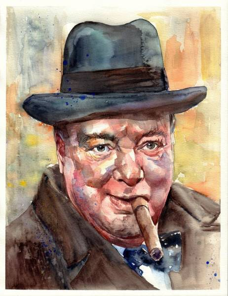 Souvenirs Painting - Winston Churchill by Suzann Sines