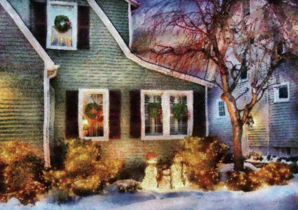 Photograph - Winter - Christmas - A Family Moment by Mike Savad