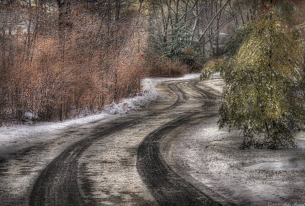 Photograph - Winter - Road - The Hidden Road by Mike Savad
