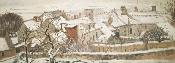Wall Art - Painting - Winter, 1872  by Camille Pissarro