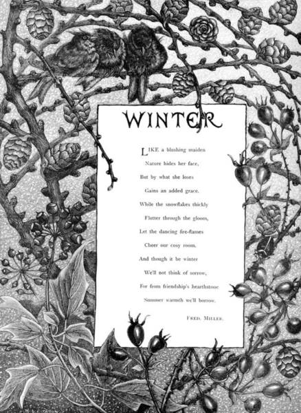 Digital Art - Winter, A Poem by Ruth Moratz