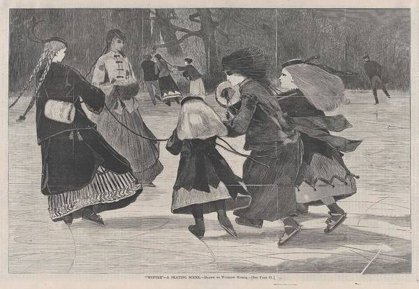 Painting - Winter   A Skating Scene, By Winslow Homer,   1836  1910 by Artistic Panda