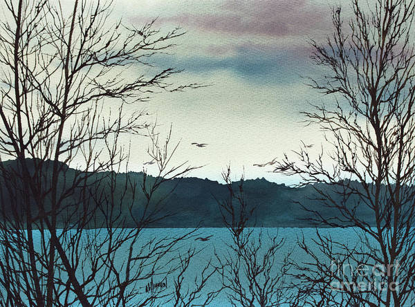 Wall Art - Painting - Winter Along The Shore by James Williamson