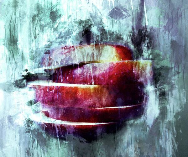 Mixed Media - Winter Apple Modern Art by Isabella Howard