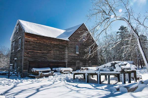Photograph - Winter At Batsto Sawmill by Kristia Adams