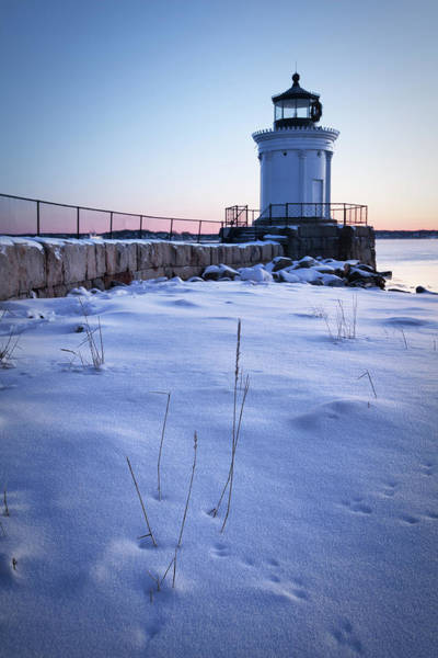 Wall Art - Photograph - Winter At Bug Light - Portland Harbor by Eric Gendron