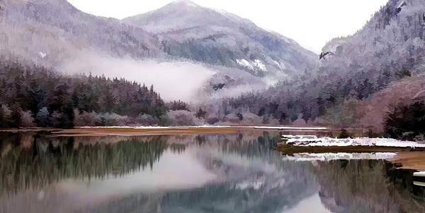 Skagit Valley Painting - Winter At Diablo Lake by Jeelan Clark
