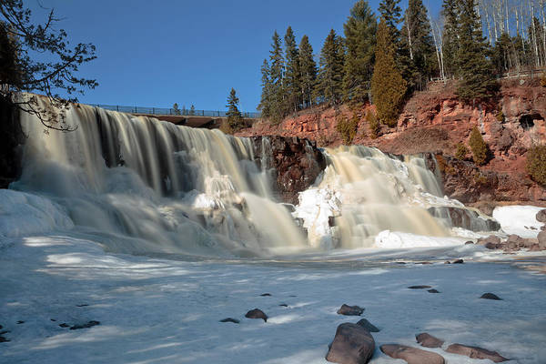 Photograph - Winter At Gooseberry Falls by Susan Rissi Tregoning