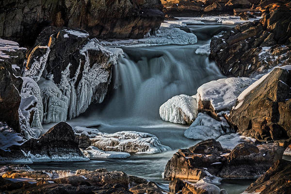 Photograph - Winter At Great Falls by Stuart Litoff