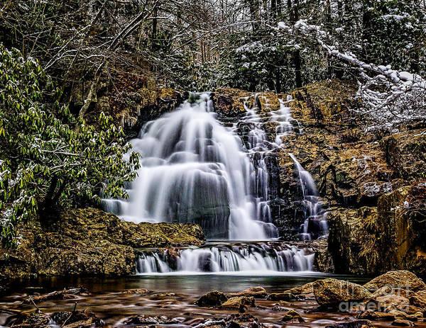 Photograph - Winter At Hawk Falls by Nick Zelinsky
