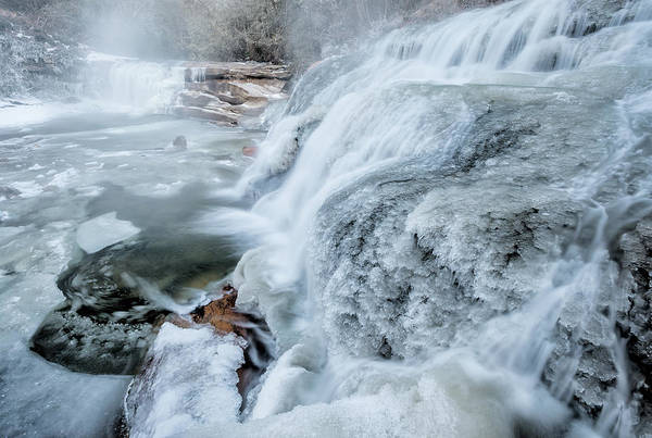 Mill Shoals Falls Wall Art - Photograph - Winter At Mill Shoals Waterfall In North Carolina  by Kevin Adams