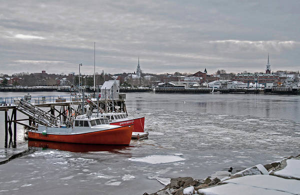 Photograph - Winter At Newburyport Harbor by Wayne Marshall Chase